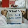 Un trabajador prepara en Puna, India, el cargamento de vacunas COVID-19 que se enviaría a Ghana.