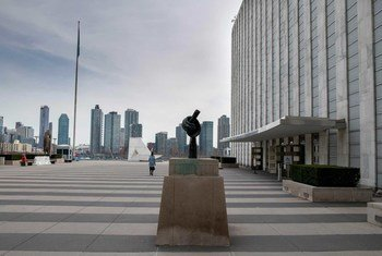 联合国总部的游客广场