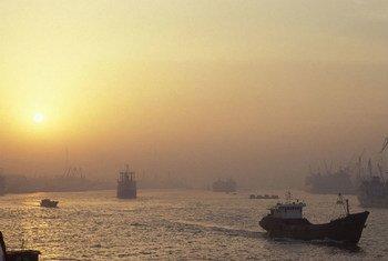 Un port en Chine.