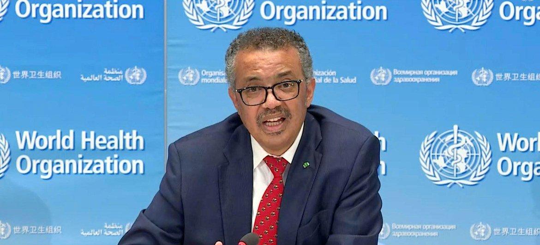 El director general de la OMS, Tedros Adhanom Gebreyesus, durante el lanzamiento de la iniciaitiva.