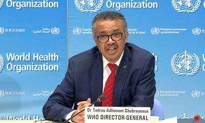 Diretor-geral da OMS, Tedros Ghebreyesus, participou da inauguração de um centro de inteligência para controle de pandemias e endemias