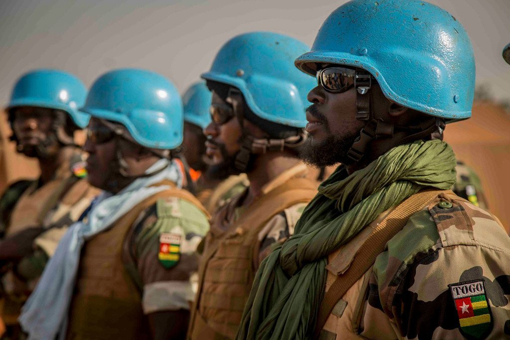 Des Casques bleus de la Mission des Nations Unies au Mali (MINUSMA) en patrouille à Konno