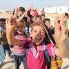 أطفال لاجئون في مخيم الزعتري في الأردن.