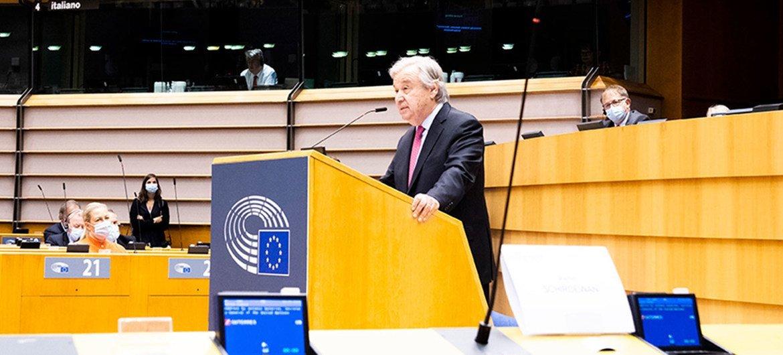 António Guterres declarou que pandemia revelou a fragilidade compartilhada, a interconexão e a necessidade de ação coletiva
