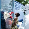 Un site de dépistage sans rendez-vous de la Covid-19 dans l'état d'Ogun, au sud-ouest du Nigeria.