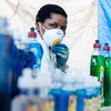Martha Maocha runs a detergent manufacturing company but has recently started making hand sanitising gel which protects against COVID-19.