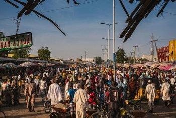 Un marché dans le nord-est du Nigéria.