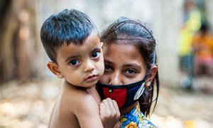 Children over 5 years old in Bangladesh are expected to wear masks during the COVID-19 pandemic.