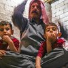 إلياس وعائلته، ينتمون إلى الطائفة الإيزيدية التي تعرضت بشدة إلى الاضطهاد بواسطة تنظيم داعش.