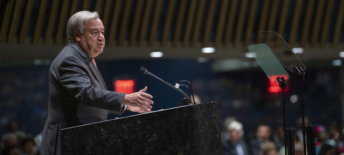 Photo : Secrétaire général de l'ONU à la 74ème session de l'AG