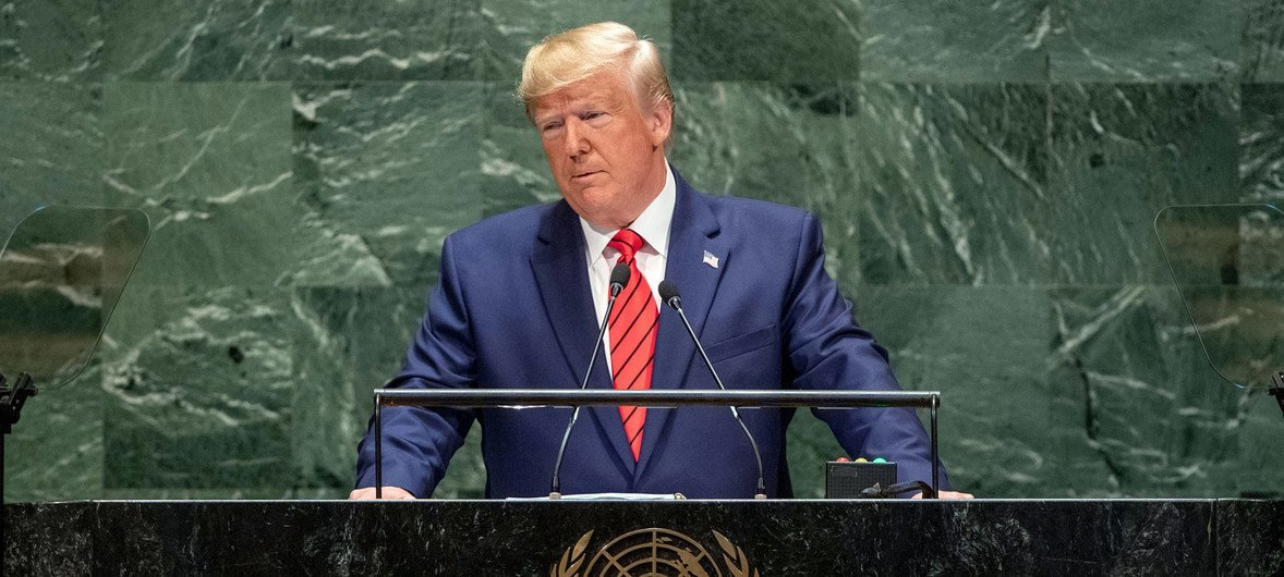 O presidente dos Estados Unidos, Donald Trump, discursou na reunião de alto-nível da 74ª Assembleia Geral.