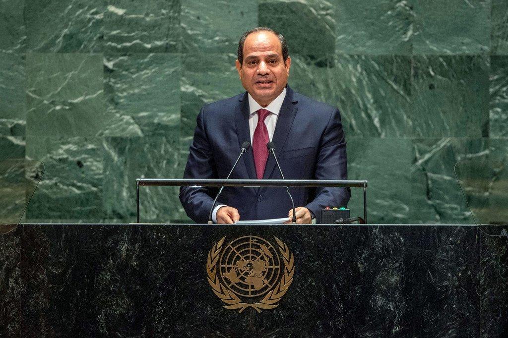 埃及总统塞西在联大第74届会议一般性辩论上发言。