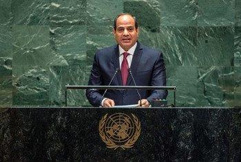Le Président de l'Egypte, Abdel Fattah Al Sisi, au débat général de la 74e session de l'Assemblée générale des Nations Unies.
