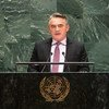 Željko Komšić, Chairman of the Presidency of Bosnia and Herzegovina, addresses the 74th session of the United Nations General Assembly's General Debate. (24 September 2019)