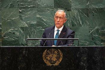 O presidente de Portugal, Marcelo Rebelo de Sousa, discursou esta terça-feira no primeiro dia do debate de alto nível da 74ª sessão da Assembleia Geral.