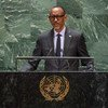 Paul Kagame, President of the Republic of Rwanda, addresses the 74th session of the United Nations General Assembly's General Debate. (24 September 2019)