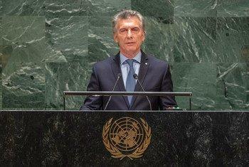 Mauricio Macri, presidente de Argentina, habla en la Asamblea General de la ONU.