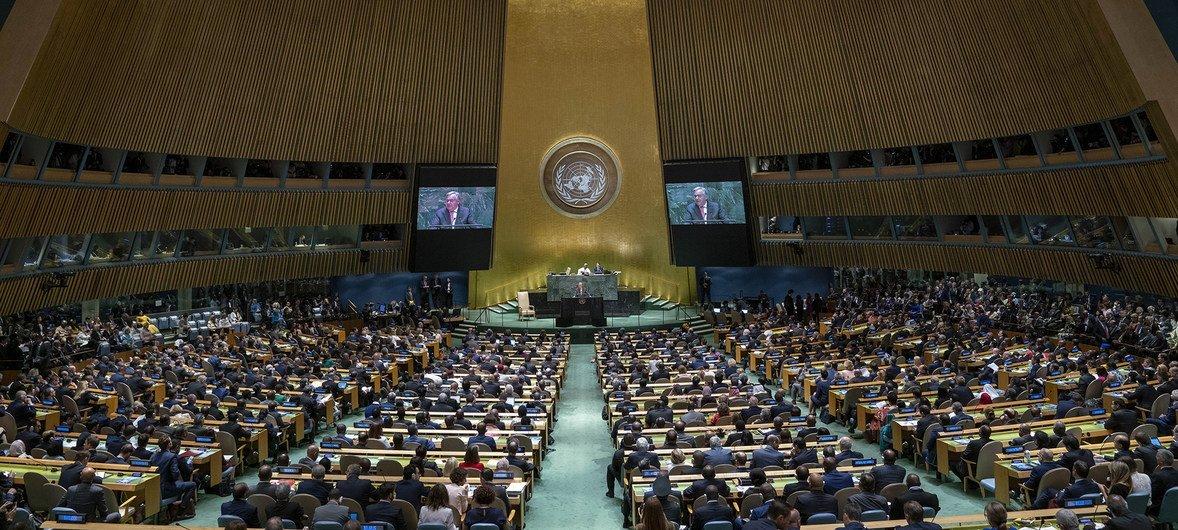 António Guterres duarnet el discurso de apertura del Debate General del 74º período de sesiones de la Asamblea General.