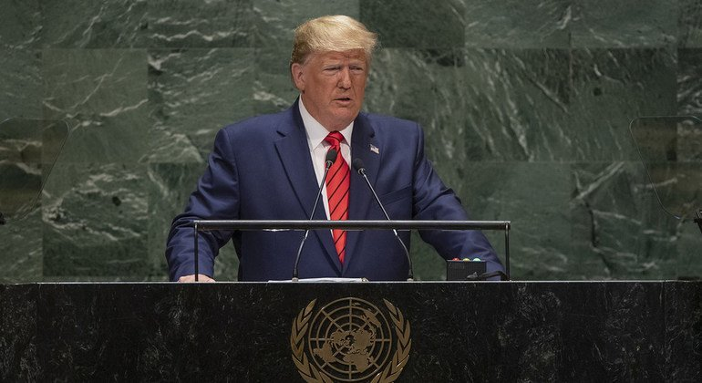 Donald J. Trump, President of the United States of America, addresses the General Debate of the General Assembly's 74th session.