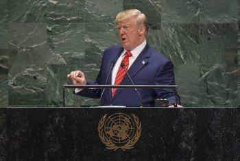 Donald Trump, presidente de Estados Unidos, en la Asamblea General de la ONU