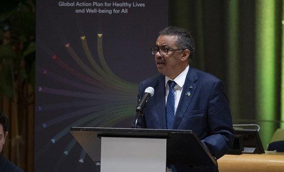 Tedros Adhanom Ghebreyesus, Director-General of the World Health Organization (WHO), speaking at UN Headquarters