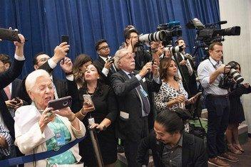 Журналисты, аккредитованные при ООН