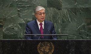 Kassym-Jomart Tokayev, President Kazakhstan, addresses the general debate of the General Assembly's seventy-fourth session.