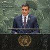 El presidente de España, Pedro Sánchez Pérez-Castejón, interviene en el debate general del septuagésimo cuarto período de sesiones de la Asamblea General.