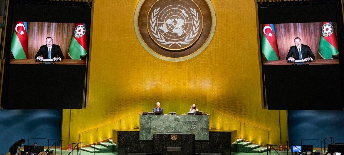 Президент Азербайджана Ильхам Алиев выступил в ходе общеполитической дискуссии на 75-й сессии Генеральной Ассамблеи ООН.