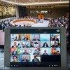 El Consejo de Seguridad en una sesión virtual sobre gobernanza global después de la crisis del COVID-19.