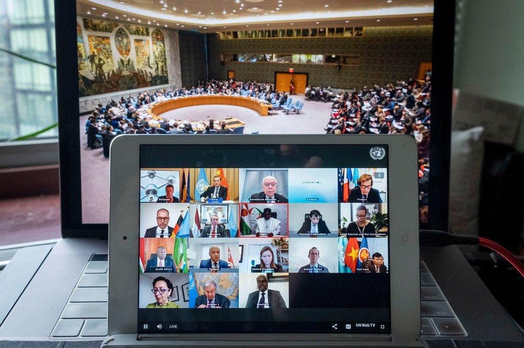Photo ONU : Réunion du Conseil de sécurité du 24 septembre 2020