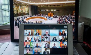 Réunion virtuelle du Conseil de sécurité sur la gouvernance mondiale après la pandémie de Covid-19.