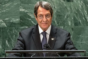 President Nicos Anastasiades of the Republic of Cyprus addresses the general debate of the UN General Assembly's 76th session.