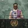 Rebecca Nyandeng De Mabior, Vice-President of the Republic of South Sudan, addresses the general debate of the UN General Assembly's 76th session.