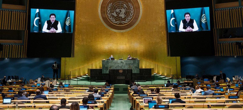 पाकिस्तान के प्रधानमंत्री इमरान ख़ान का, यूएन महासभा के 76वें सत्र की उच्चस्तरीय जनरल डिबेट को वीडियो सम्बोधन (24 सितम्बर 2021)