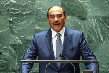 رئيس الوزراء الكويتي الشيخ صباح خالد الحمد الصباح، خلال تقديم كلمة بلاده في مداولات الدورة السادسة والسبعين أمام الجمعية العامة للأمم المتحدة.