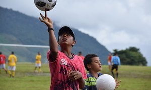 Football for reconciliation, an event held between people involved the Colombian peace process.