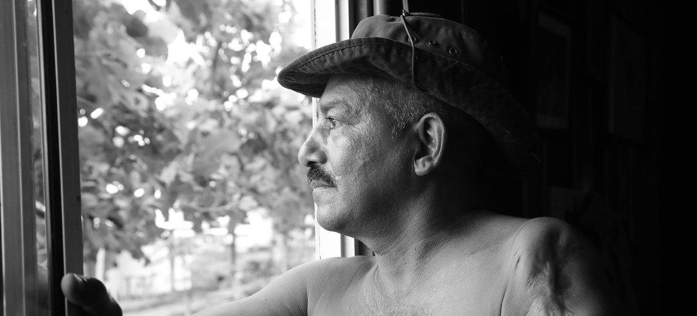 Tobías Polanco, ex combatiente y habitante del Espacio Territorial de Capacitación y Reincorporación (ETCR) de Tierra Grata, en Manaure, un municipio colombiano ubicado en el Departamento de Cesar.