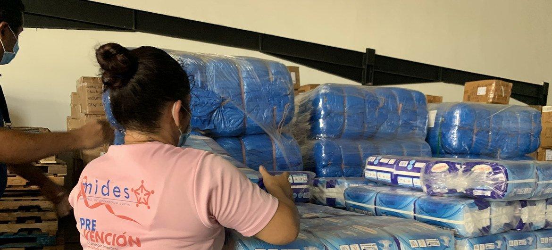 Ayuda humanitaria en Panamá tras el paso de los huracanes  Eta e Iota.