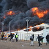 The fire rages at the Lipa emergency camp in Bosnia and Herzegovina that housed about 1,400 migrants.