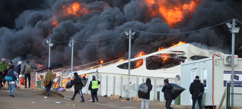 Лагерь Липа в Боснии был практически полностью уничтожен пожаром.