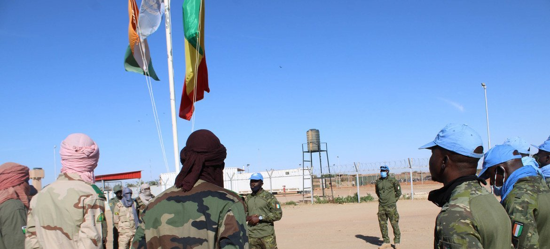 Des casques bleus du contingent ivoirien de la MINUSMA basé à Tombouctou.