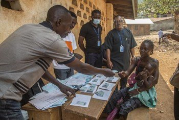 Various polling centres in the capital Bangui in Central African Republic before the presidential election