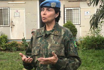 Comandante brasileira Carla Monteiro de Castro Araújo