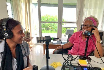 Georgilla Worwor (left) and Anthea Arukole (right), are committed to increasing the number of women in Vanuatu's parliament.