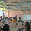 Estudiantes del colegio San Mateo Apóstol en Bogotá, Colombia, aprenden sobre cambio climático gracias a ClimaLab.