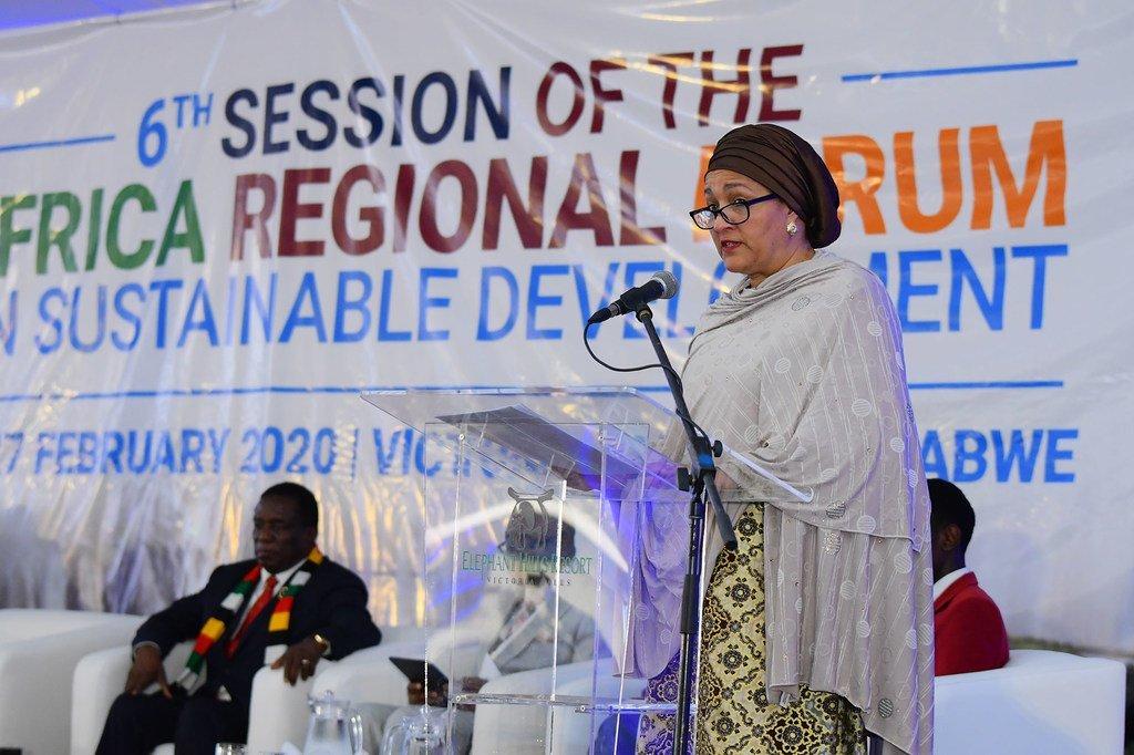 الصورة للأمم المتحدة: أمينة محمد، نائبة الأمين العام للأمم المتحدة