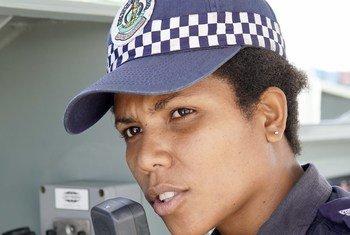 Sergeant Bianca Simeon, of the Vanuatu Police maritime wing.