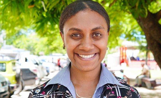 Georgiilla Worwor, a law student and community activist from Vanuatu.