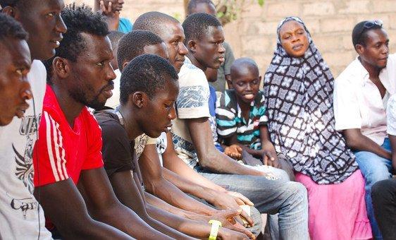 Survivors participate in a focus group discussion.